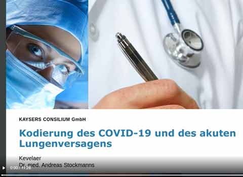 ICD-Kodierung des Covid-19 und des akuten Lungenversagens