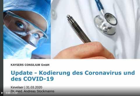 Update - Kodierung des Coronavirus und des COVID-19